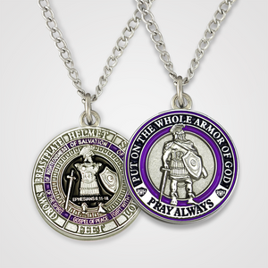 Load image into Gallery viewer, Armor of God Pendant Male-Purple