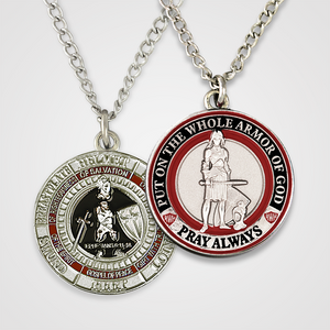 Armor of God Pendant Female-Red