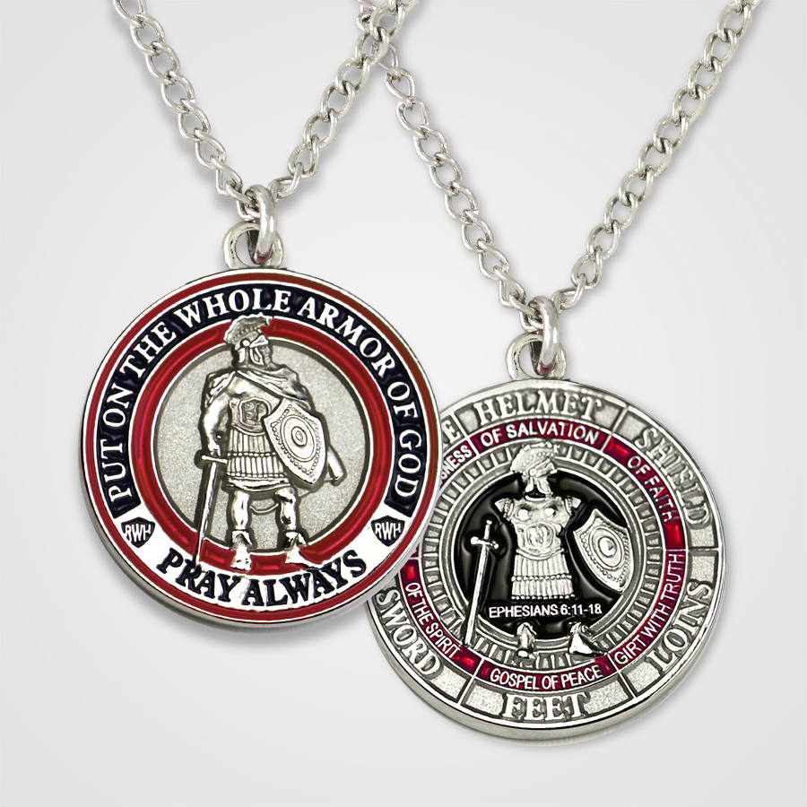 Armor of God Pendant Male-Red