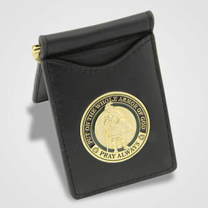 Armor of God Money Clip with Coin Insert