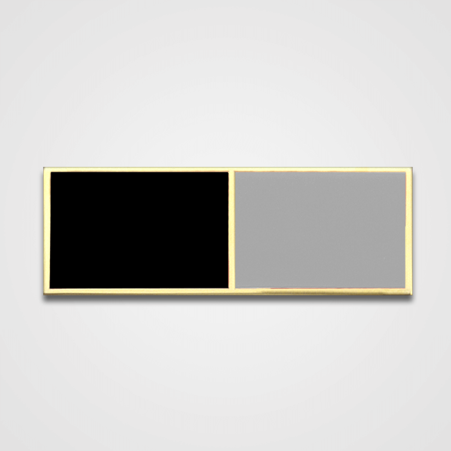2-Stripe Black/Gray Merit Pin-Bar