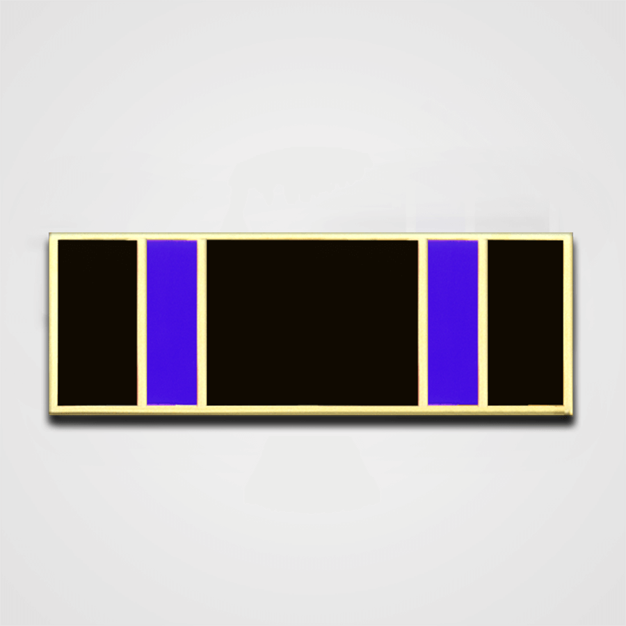 5-Stripe Black/Blue Merit Pin-Bar