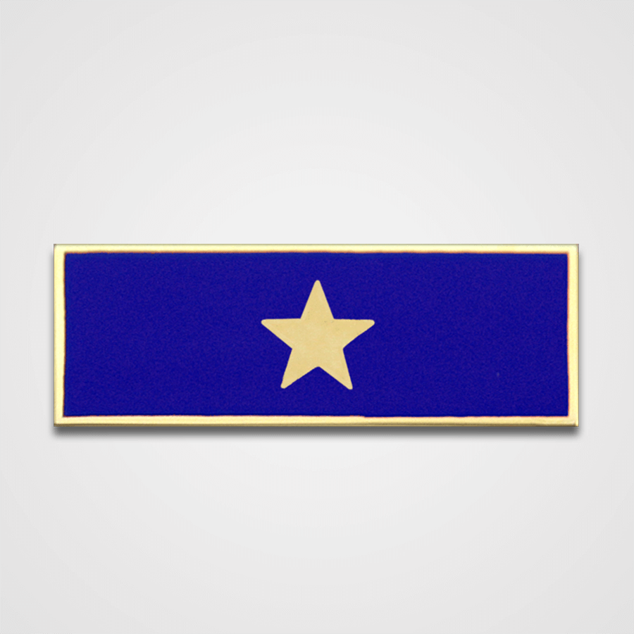 1-Star Blue Merit Pin-Bar