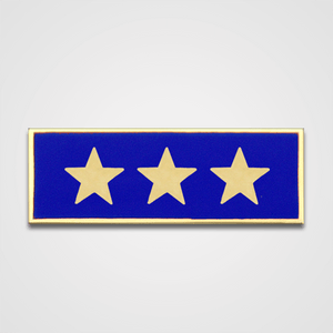 3-Star Blue Merit Pin-Bar