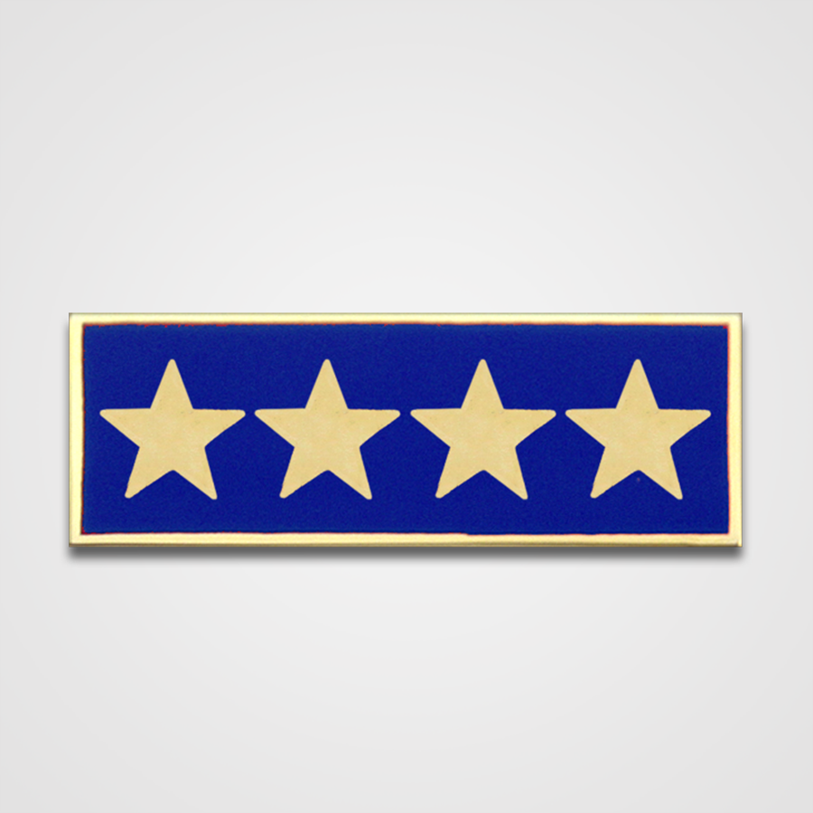 4-Star Blue Merit Pin-Bar