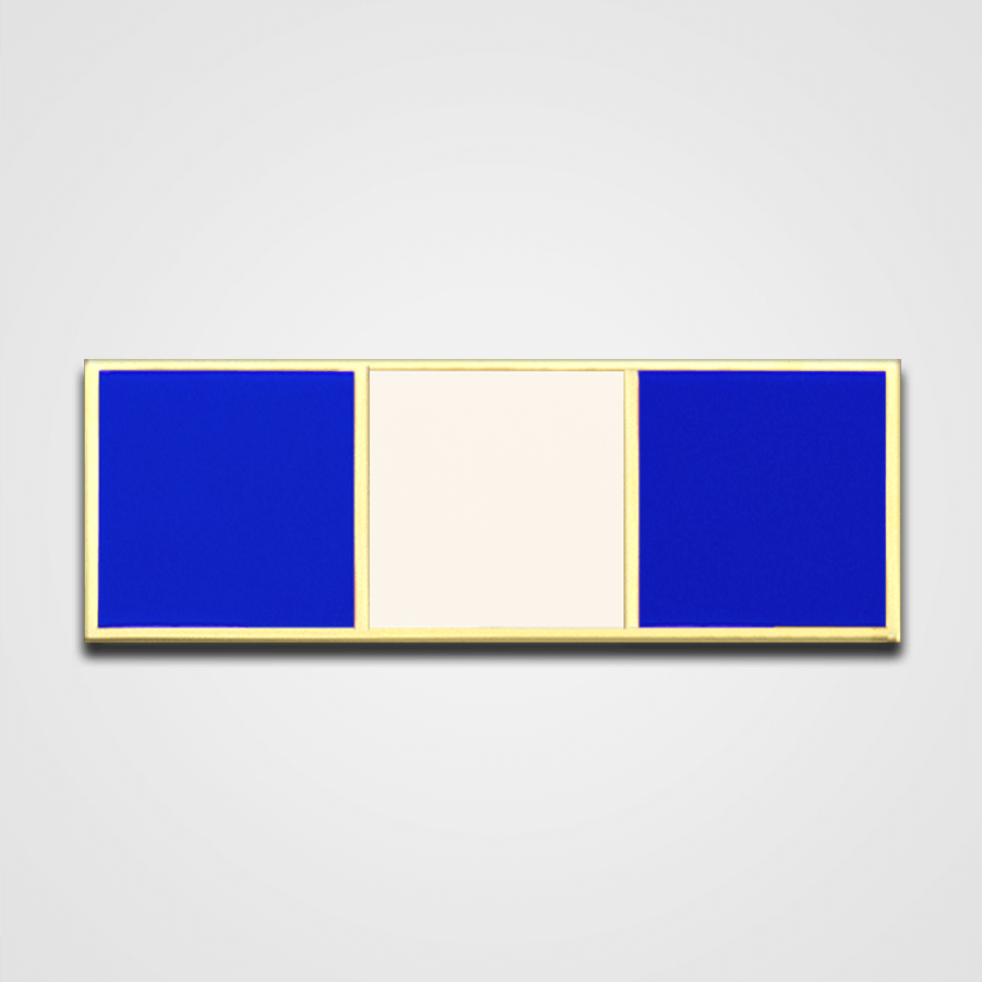 3-Stripe Blue/White Merit Pin-Bar