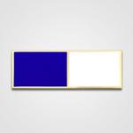 2-Stripe Blue/White Merit Pin-Bar