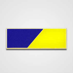 2-Stripe Blue/Yellow Diagonal Merit Pin-Bar