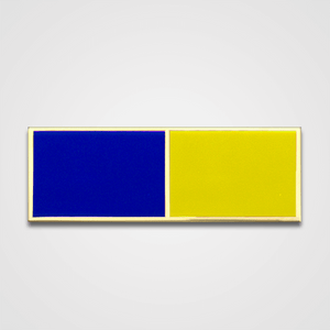 2-Stripe Blue/Yellow Merit Pin-Bar