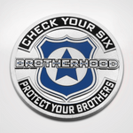 Police Brotherhood Coin Front Check your Six