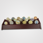 54 Cherry wood Coin Display with Coins