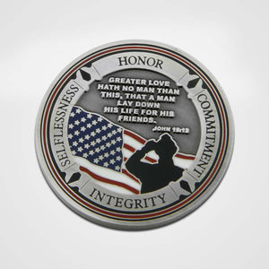 Load image into Gallery viewer, Fallen Firefighter Coin-Back