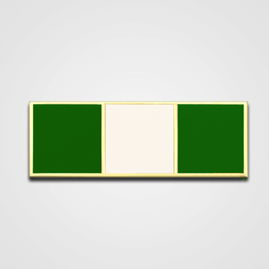 3-Stripe Green/White Merit Pin-Bar