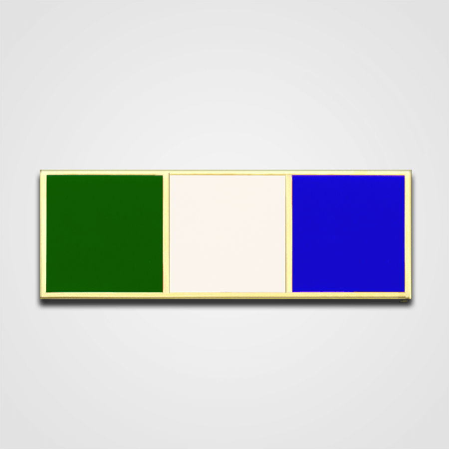 3-Stripe Green/White/Blue Merit Pin-Bar