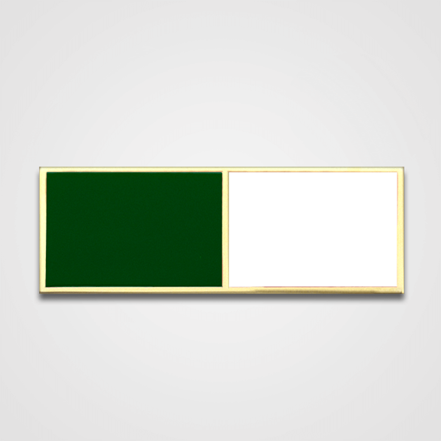 2-Stripe Green/White Merit Pin-Bar