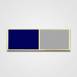 2-Stripe Blue/Gray Merit Pin-Bar
