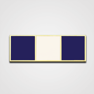 3-Stripe Navy/White Merit Pin-Bar