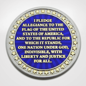 Pledge of Allegiance Coin Back with Text