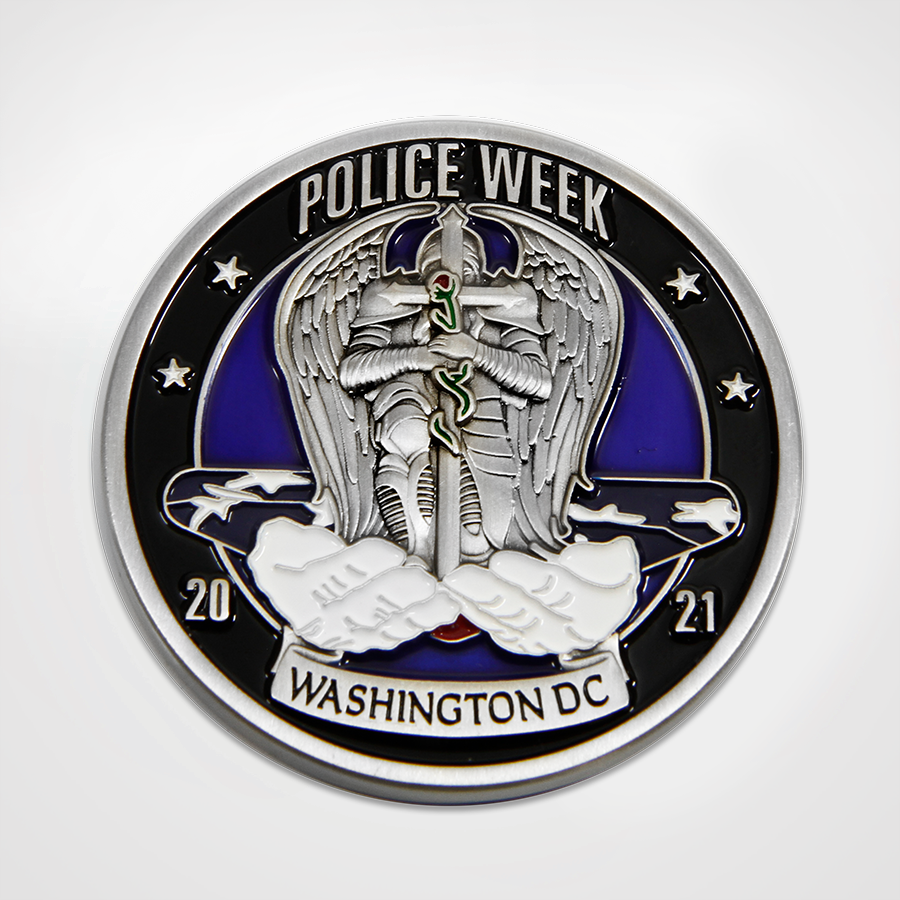 Police Week 2021 Coin Front with Saint Michael
