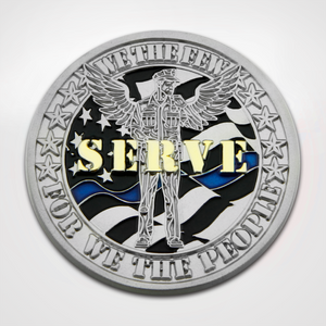 Protect and Serve Coin Back