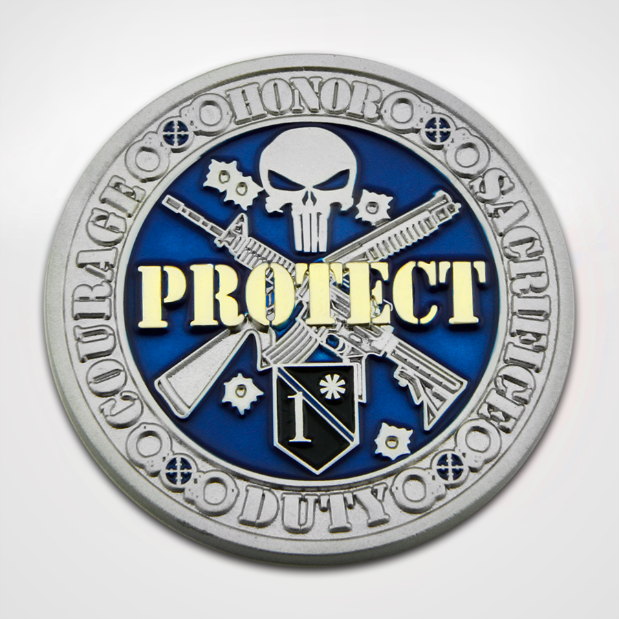 Protect and Serve Coin Front