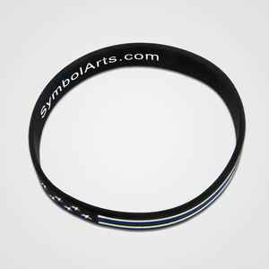 Load image into Gallery viewer, Blue Line PVC Bracelet