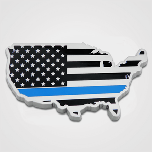 USA Blue Line Car Emblem