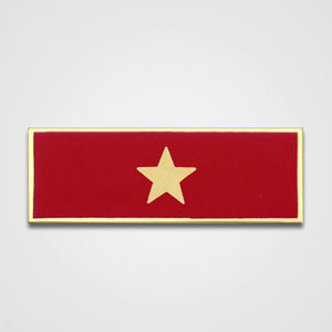 1-Star Red Merit Pin-Bar