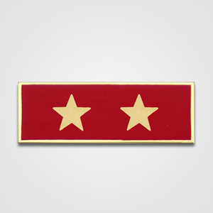 2-Star Red Merit Pin-Bar