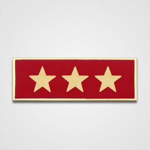 3-Star Red Merit Pin-Bar