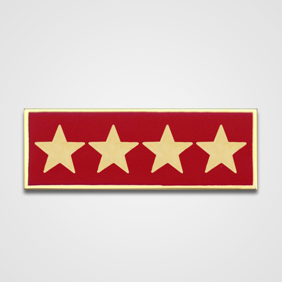 4-Star Red Merit Pin-Bar