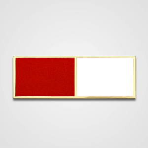 2-Stripe Red/White Merit Pin-Bar