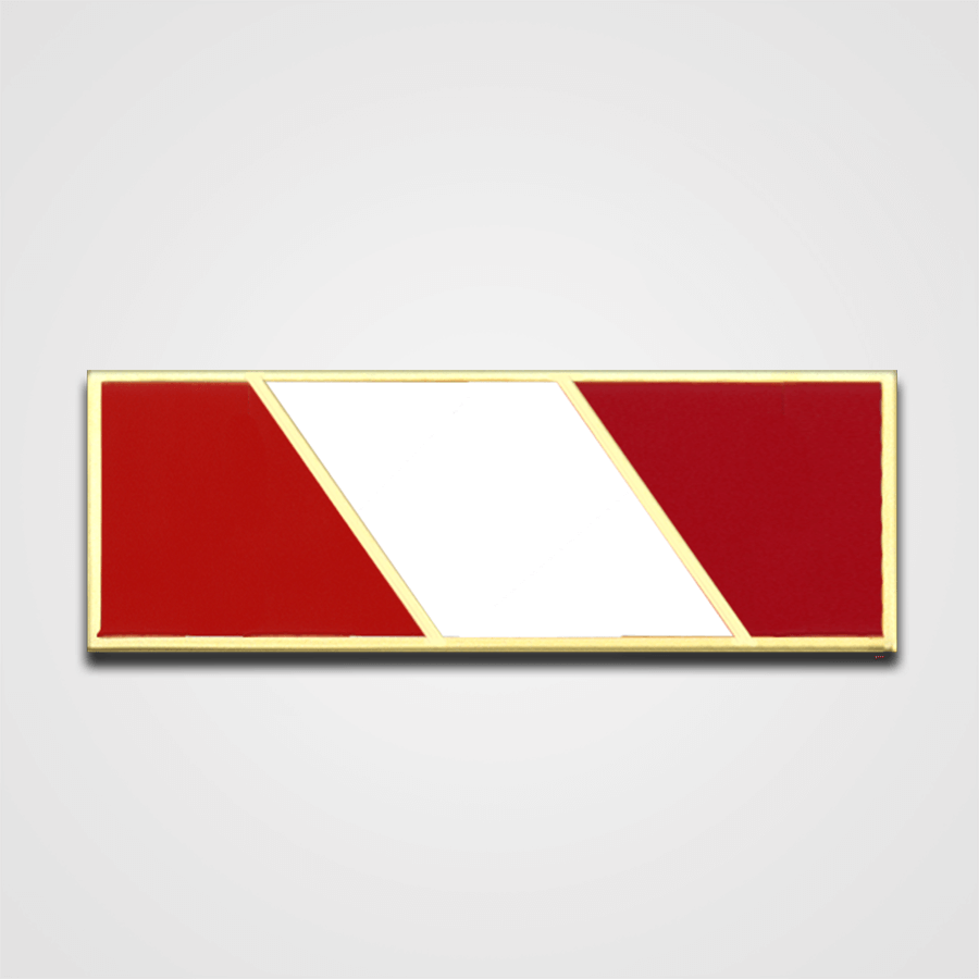 3-Star Red/White Merit Pin-Bar