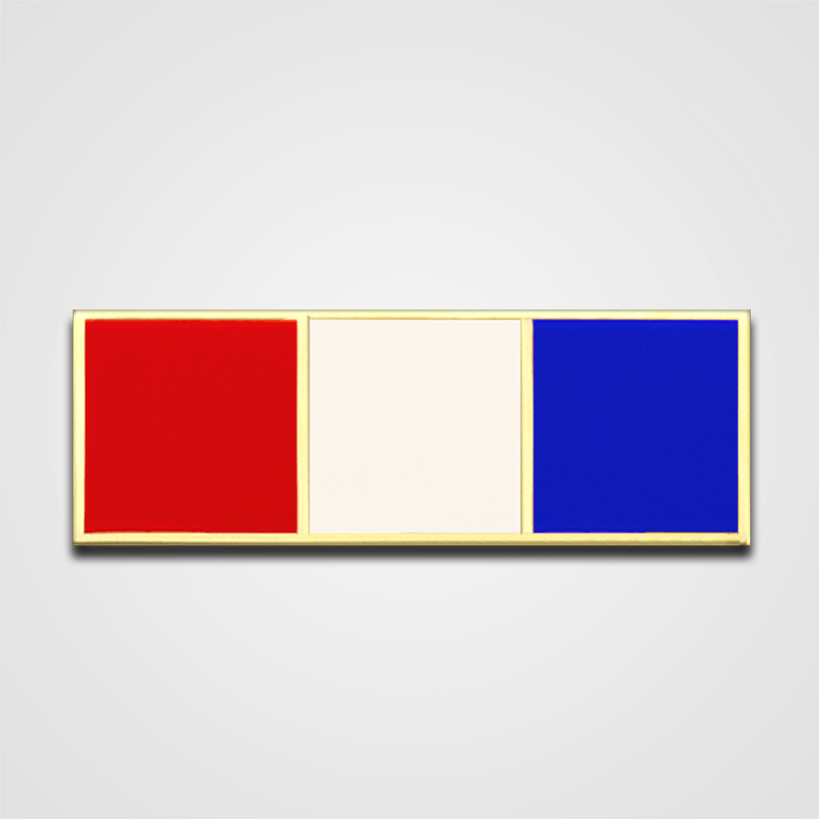 3-Stripe Red/White/Blue Merit Pin-Bar
