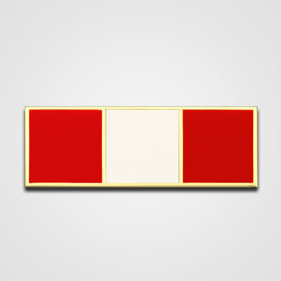 3-Stripe Red/White Merit Pin-Bar