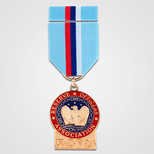 ROTC Merit Medal with Ribbon-Gold
