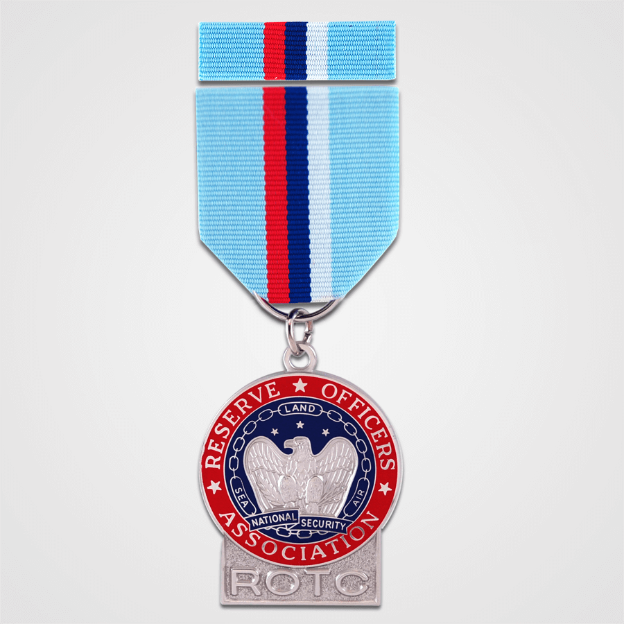 ROTC Merit Medal with Ribbon-Nickel