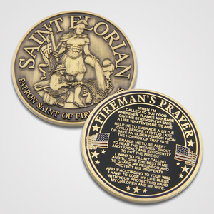 Antique Gold Saint Florian Coins