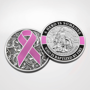 Load image into Gallery viewer, St. Florian Pink Coin