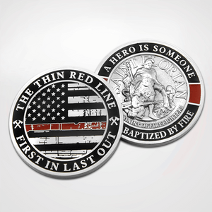 Load image into Gallery viewer, St. Florian Red Line Coins