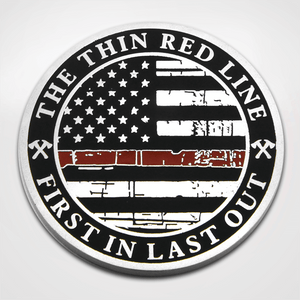 St. Florian Red Line Coin - Back Red Line Flag