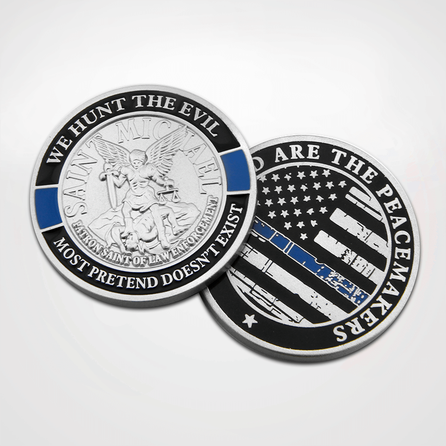 St. Michael Blue Line Coin
