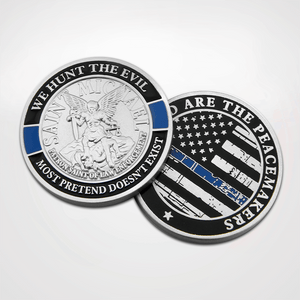 Load image into Gallery viewer, St. Michael Blue Line Coin
