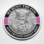 St. Michael Pink Line Coin - We hunt the evil
