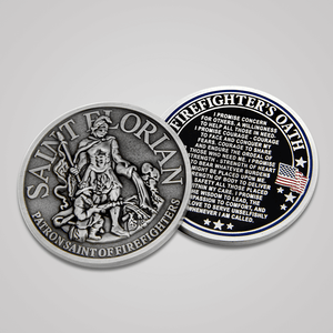 Antique Silver Saint Florian Coins