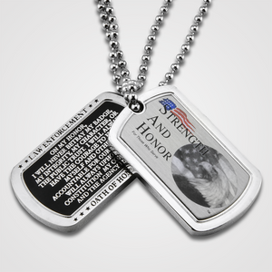 Strength & Honor Dog Tag