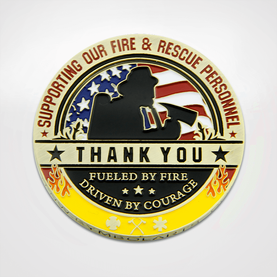 Thanks a Million Fire & Rescue Coin Front