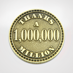 Thanks a Million Law Enforcement Coin Back