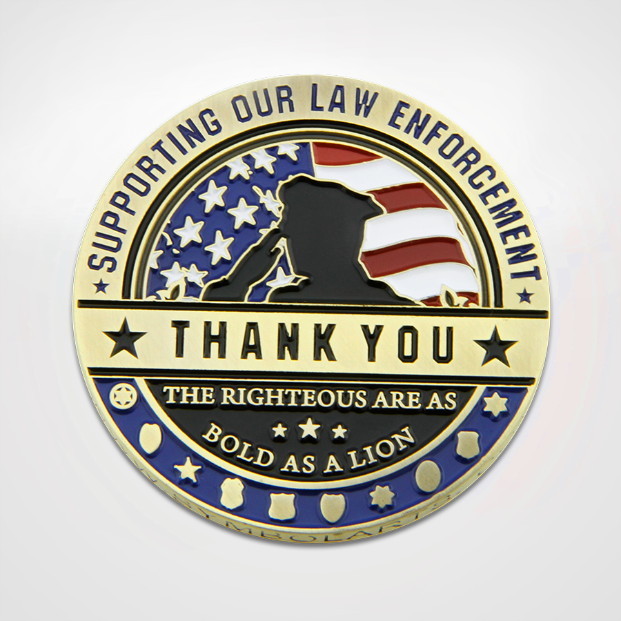 Thanks a Million Law Enforcement Coin Front