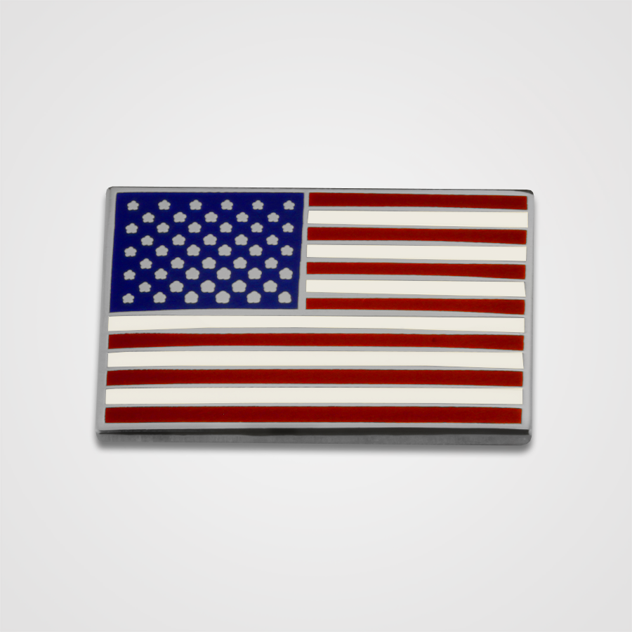 USA Flag Pin Nickel